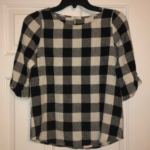 Everly Plaid Shirt, Size Small